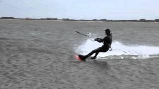 Julien Verglas Kiteboarding the Hamptons, New York- Feb 17th 2013
