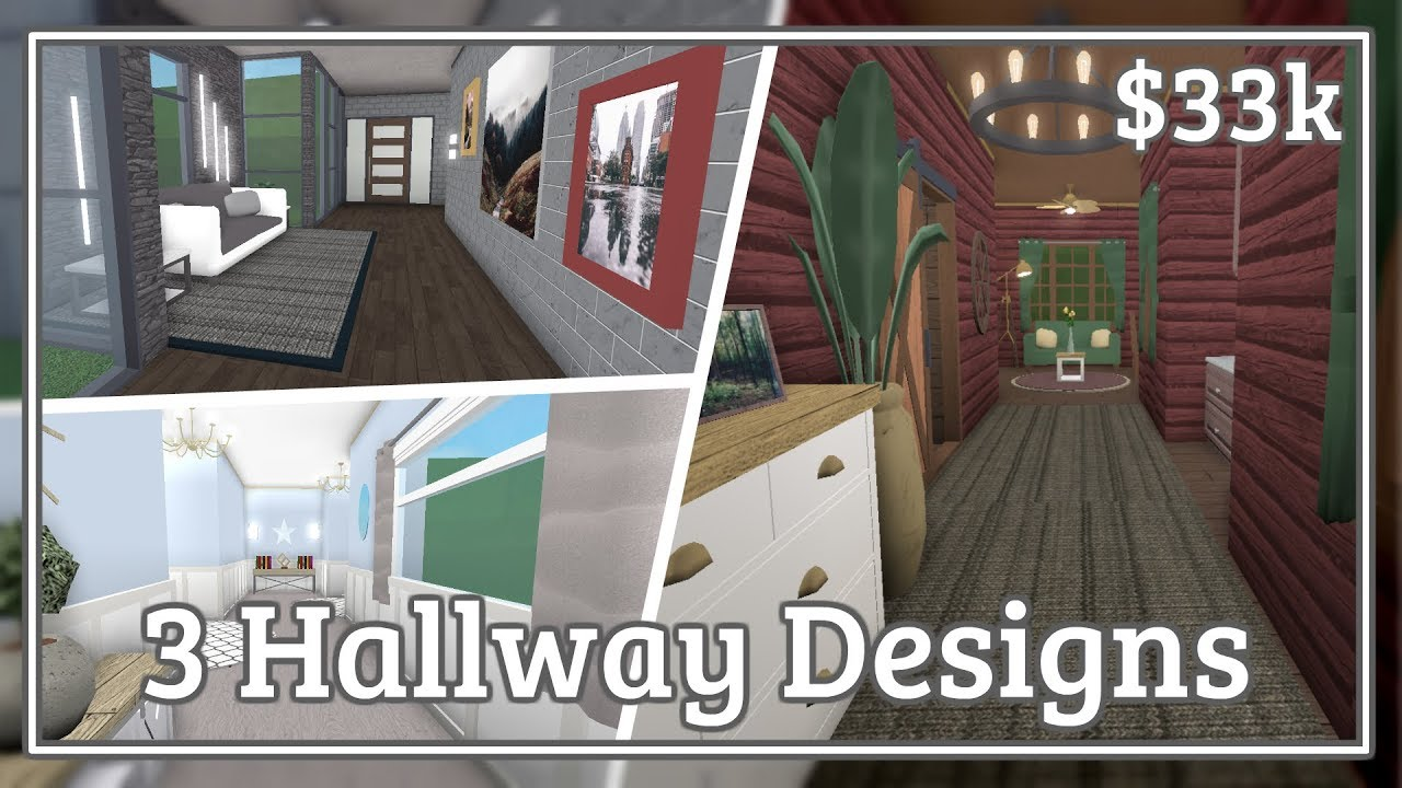 Bloxburg 3 Hallway Designs Speed Build Youtube