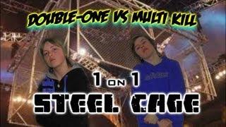 awf trampoline wrestling steel cage double one vs multi kill