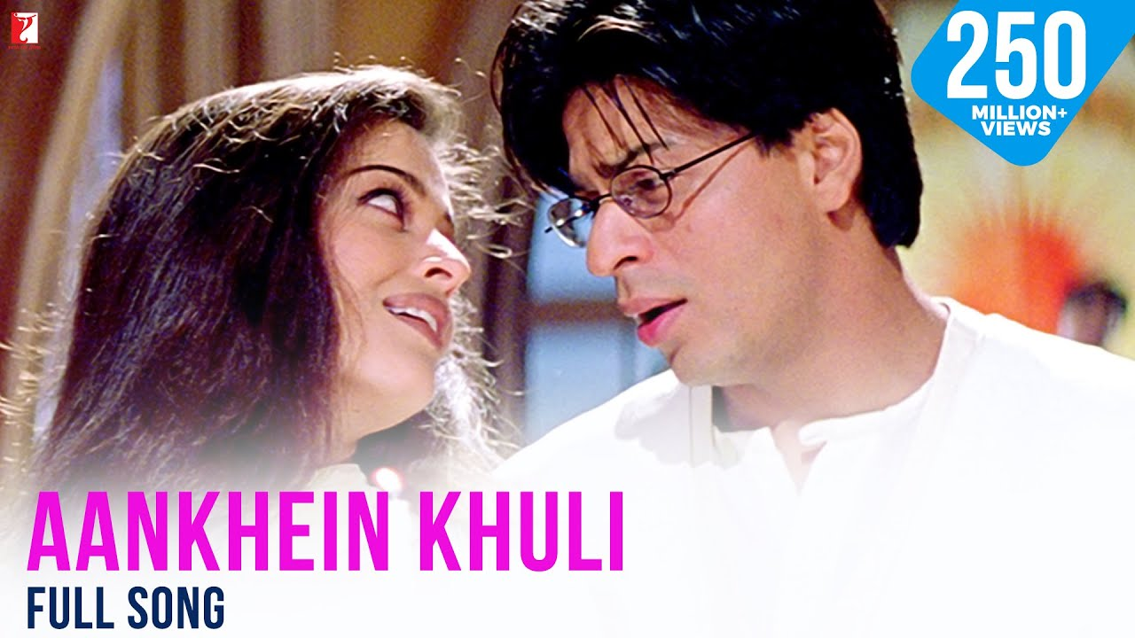 Download Aankhein Khuli Full Song | Mohabbatein | Shah Rukh Khan, Aishwarya Rai, Jatin-Lalit, Lata Mangeshkar