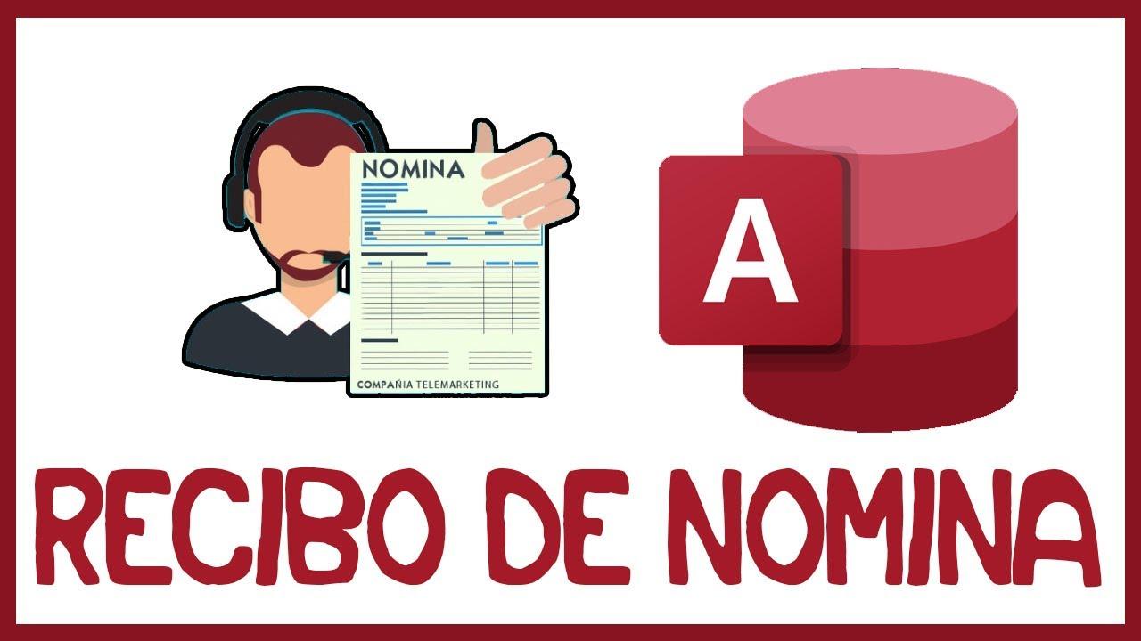 Recibo de nomina en access youtube for Modelo de recibo de nomina