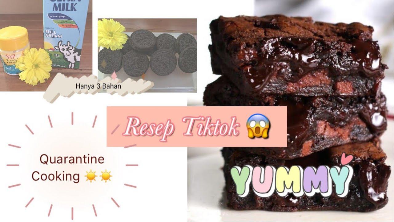 Coba RESEP TIKTOK    Oreo Cake 3 Bahan    Quarantine ...