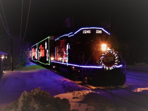 Happy Holidays! CN, CP And The Holiday Train In Various Locations! (Nov 29, 2019)