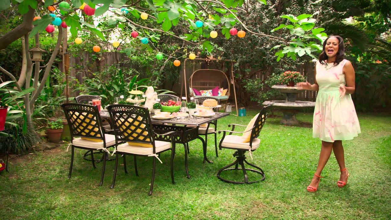 Pier 1 imports the perfect look for a garden party brunch for Outdoor brunch decorating ideas