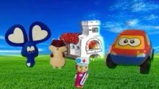 Маша и Медведь. Маша на машинке с прицепом готовит сладости для Мишки. Непоседа.