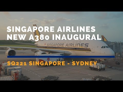 Singapore Airlines NEW A380 Inaugural Flight SQ221 Singapore
