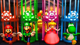 Mario Party The Top 100 MiniGames - Mario Vs Peach Vs Luigi Vs Yoshi (Master Cpu)