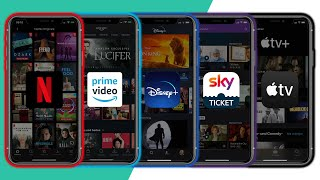 Streaming-Anbieter Vergleich (Netflix, Disney Plus, Prime Video, Apple TV+, Sky Ticket)