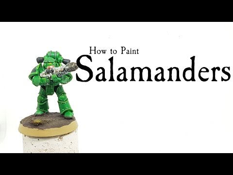 How to paint Salamanders Space Marines