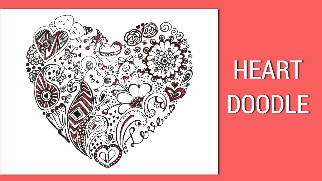 Heart doodle love doodle art valentine doodle youtube for Love doodles to draw