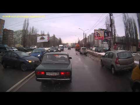 ДТП на ул. Лизюкова в Воронеже