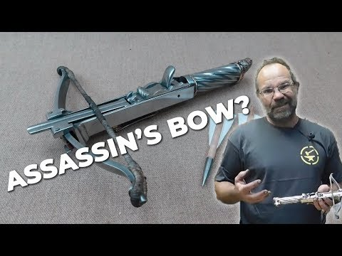 Medieval ASSASSIN'S CROSSBOW (Balestrino) ASSEMBLED & TESTED!