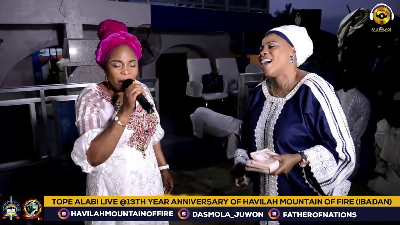 Download TOPE ALABI LIVE AT HAVILAH MOUNTAIN OF FIRE (DADDY AND MUMMY OLUBORI)