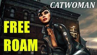 RETURN TO ARKHAM FREE ROAM CATWOMAN EP1