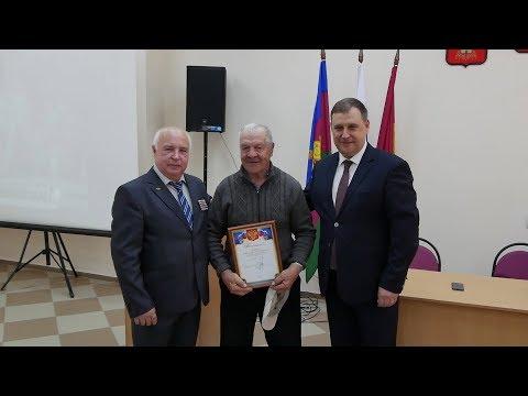 Кореновск. Ветеранам чернобыльской катастрофы вручили благодарности.