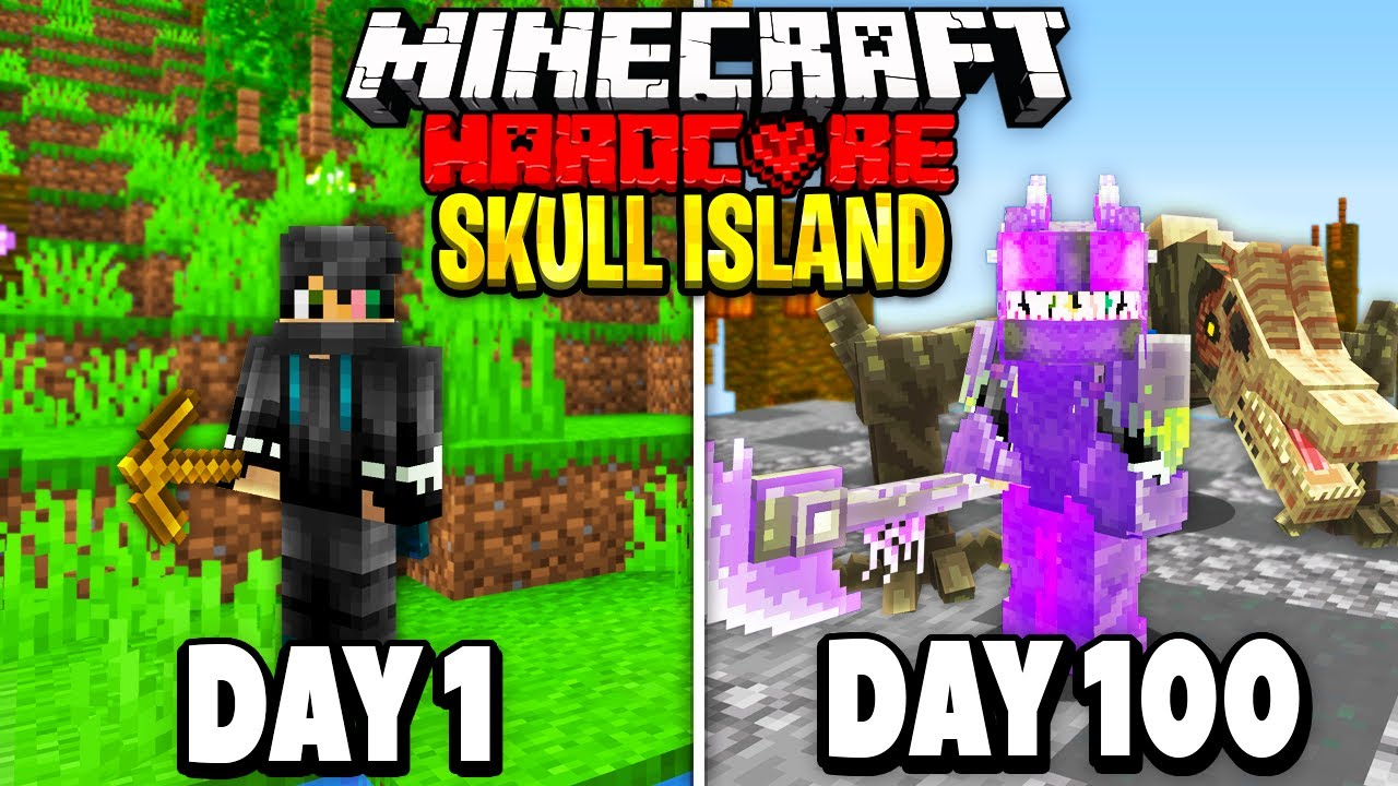 Download I Survived 100 Days on Skull Island in Minecraft.. Here's What Happened..