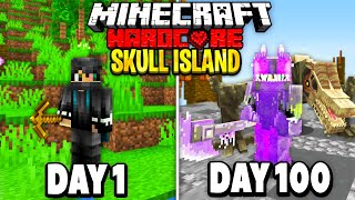 I Survived 100 Days of Hardcore Minecraft on Skull Island.. Here's What Happened..