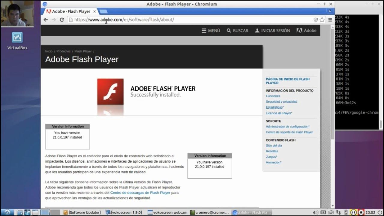 install flash player chromium linux