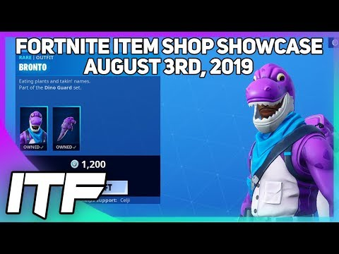 Fortnite Item Shop *NEW* CRYSTAL AND BRONTO SKINS! [August 3rd, 2019] (Fortnite Battle Royale)