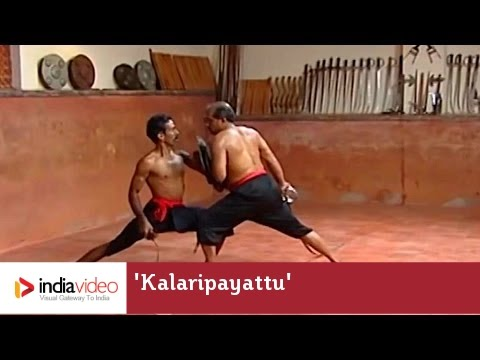 Fighting with Urumi and Paricha in Kalaripayattu