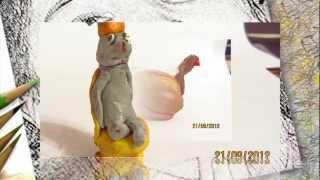 Видео фигурок из пластилина, лепка фигурок - modeling figures