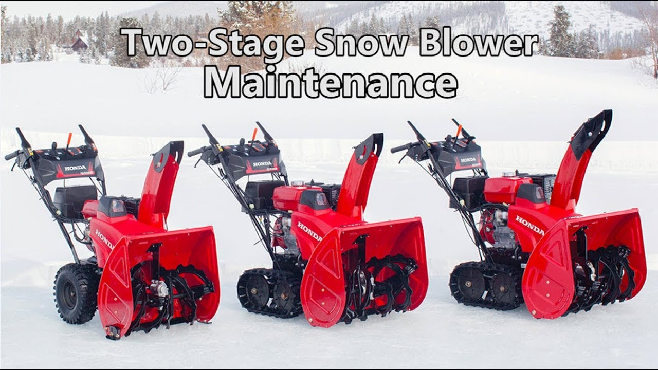Used Snow Blowers Honda Two Stage Snow Blower Maintenance
