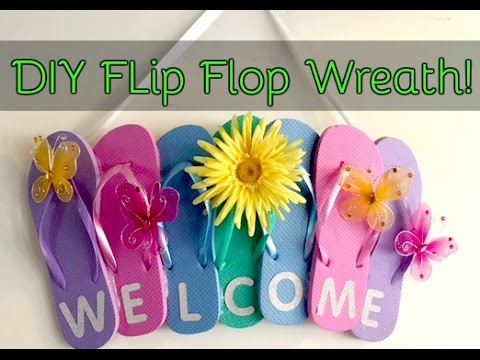 Diy Flip Flop Welcome Wreath Dollar Tree Youtube