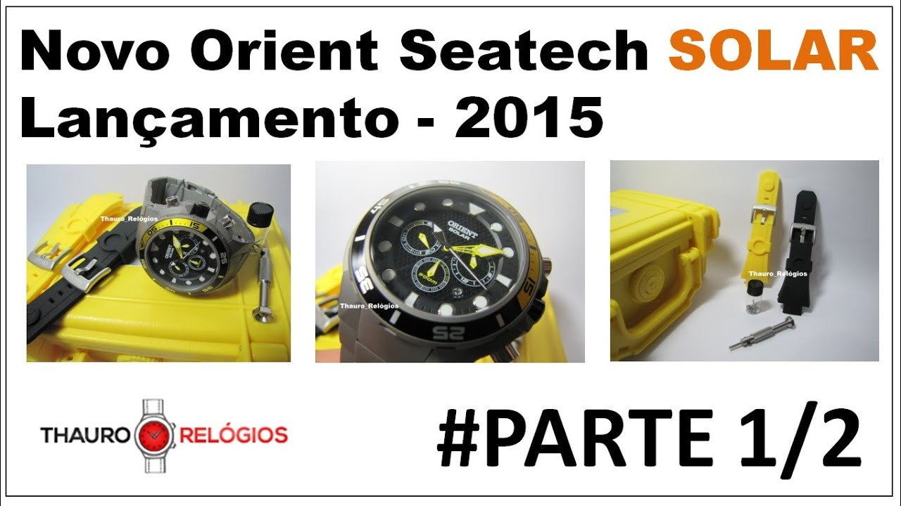 eebad906052  REVIEW  Relógio Orient Seatech Solar Titanium - Ref  MBTTC014 500m -  www.thauro.com.br - Diver