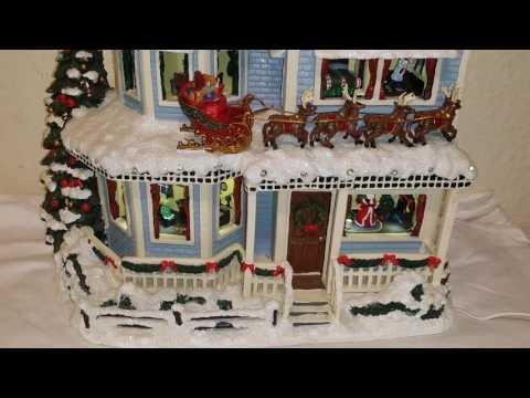 Thomas Kinkade Twas The night before Christmas Talking House