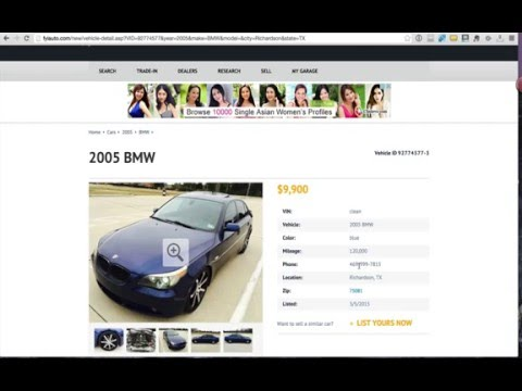Buying A Used Car Off Craigslist – How To Spot a Scammer or Flipper
