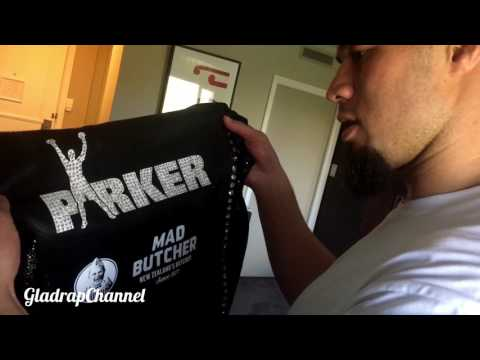 Joseph  Parker's new $10K Boxing Trunks & Gown – Made with Crystals, Python Skin, Suede!!!