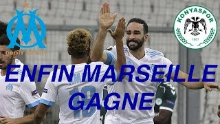 Enfin Marseille Gagne!!! OM 1 - 0 Konyaspor - Coupe Europa - Amavi - Rami - Germain - Thauvin