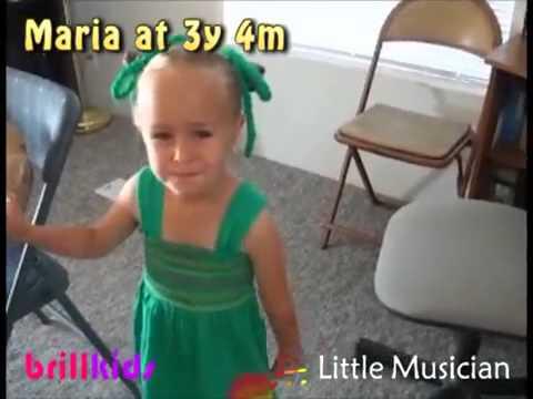 Toddler Maria enjoying classic...
