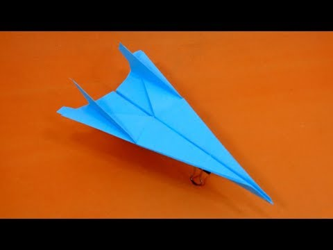How to Make a Throwing Paper Plane That Flies Far - Best Design Airplane Glider for Kids