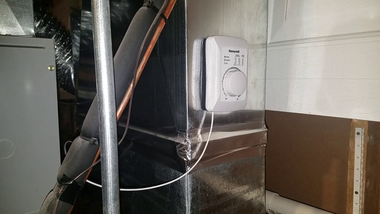 whole home humidifier install notes - honeywell he240