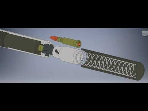 Rotating Bolt Short Blowback Action