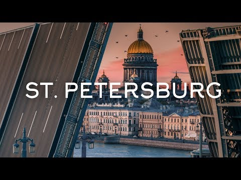 The city of white nights - Saint Petersburg drone video Time