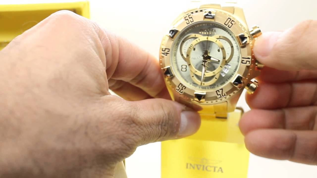 Invicta Men's 6471 Excursion Reserve Chronograph 18k Gold Ion-Plated  Stainless Steel Watch - YouTube