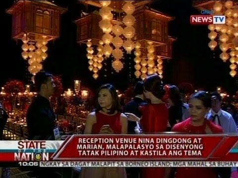Download SONA: Reception venue nina Dingdgong at Marian, malapalasyo ang diesnyo