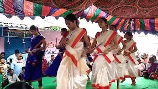 School Girl's Dance    Sri Ramuni Temple Opening Ceremony 2018