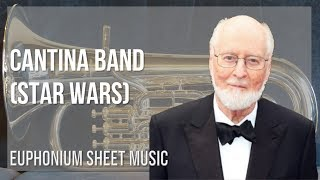 EASY Euphonium Sheet Music: How to play Cantina Band (Star Wars) by John Williams