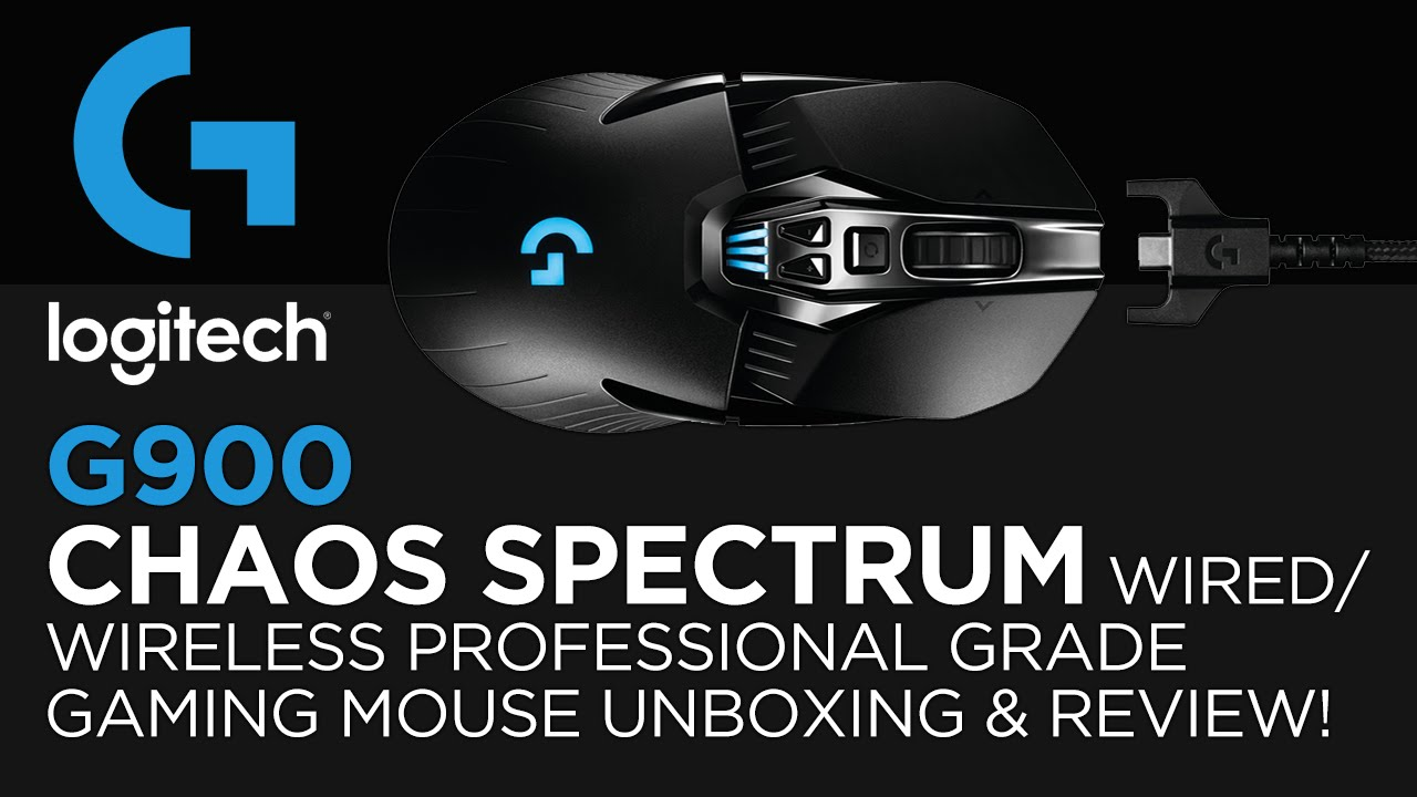 Logitech G900 Chaos Spectrum Wireless Wired Professional Gaming Mouse Unboxing Review Youtube