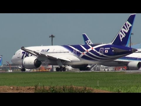 ANA(Boeing787 Dreamliner )Air France (A380) Take off  from Narita Airport !!RWY34L成田空港