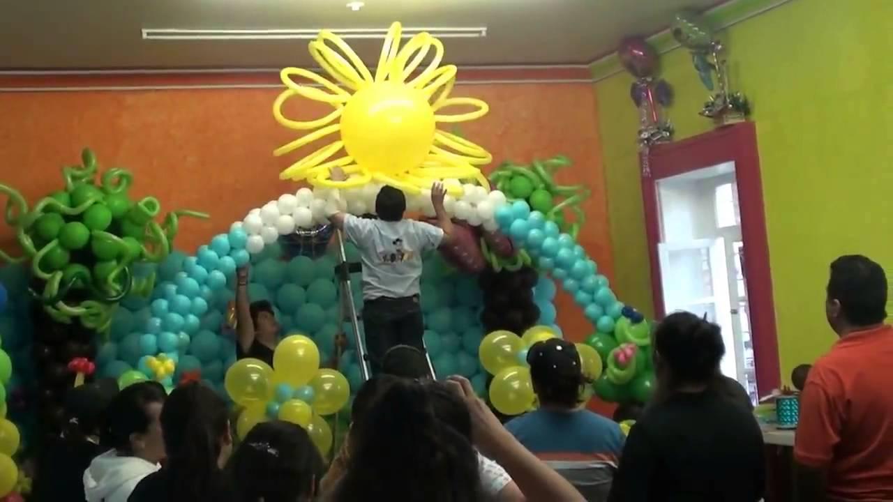 Exito curso decoracion con globos febrero 2013 youtube for Decoracion con globos