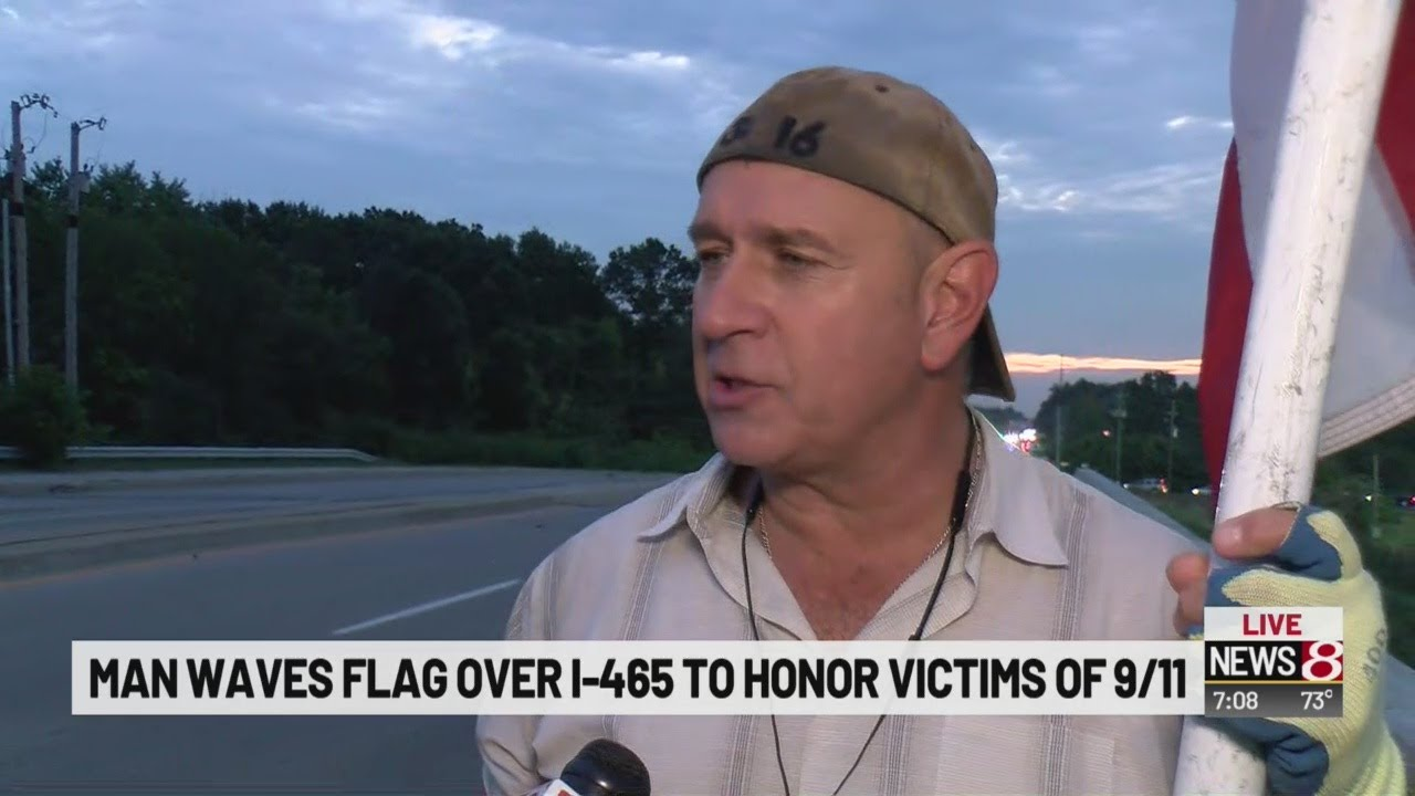 Man continues tradition of waving the American flag, honoring those lost on Sept. 11