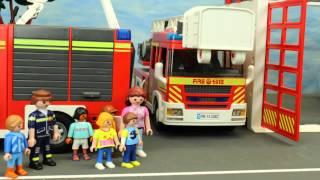 Kita Ausflug zur Feuerwehr Playmobil Film seratus1 deutsch stop motion