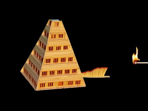 How to build a pyramid house  with wooden sticks | smart DIY