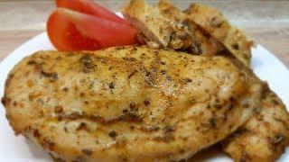 СОЧНОЕ КУРИНОЕ ФИЛЕ за 5 минут (+время в духовке). Обалденный рецепт вкусной куриной грудки.