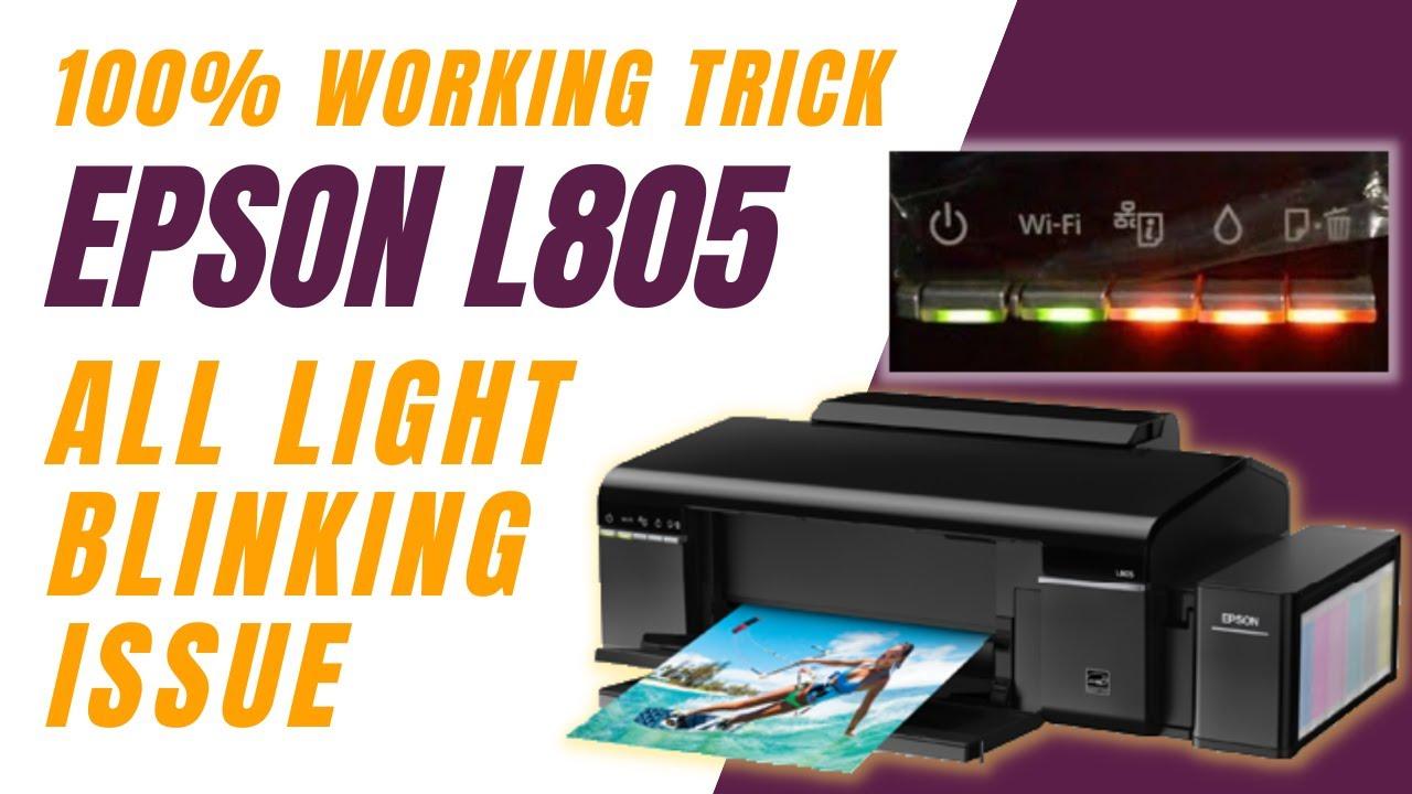 Epson L805 All light blinks at power ON