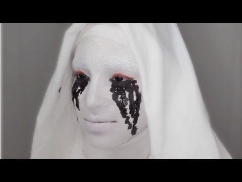 American Horror Story White Nun(Bloopers too) - Asylum Promo Halloween Makeup Tutorial